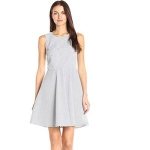 Armani Exchange Seersucker Fit and Flare Dress 0